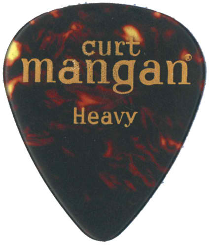 Curt Mangan Heavy Celluloid Shell (12-Pak) Guitar Picks - Dynamic Music Distribution