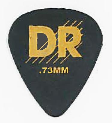 DR Blk Delrin Pick 72Pc Pk Medium - Dynamic Music Distribution