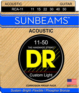 DR Sunbeam Acoustic Guitar Strings 11-50 - Dynamic Music Distribution