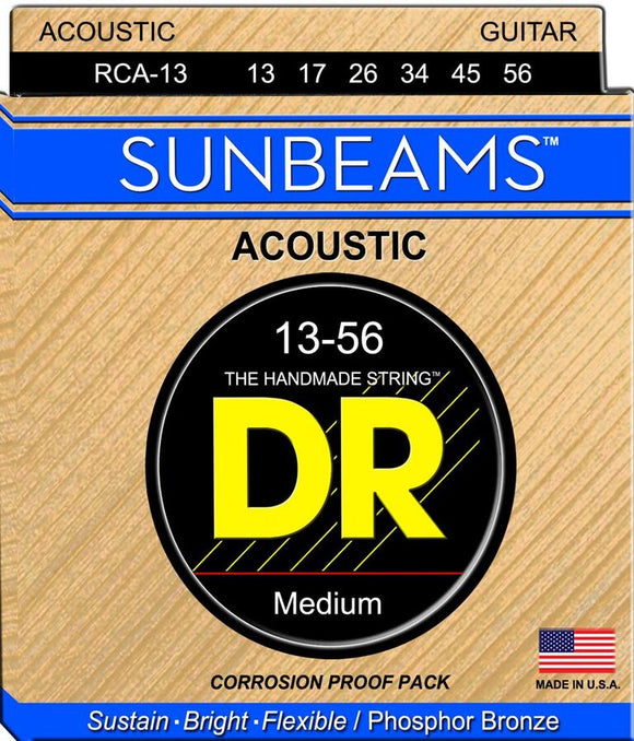 DR Sunbeam Acoustic Guitar Strings 13-56 - Dynamic Music Distribution