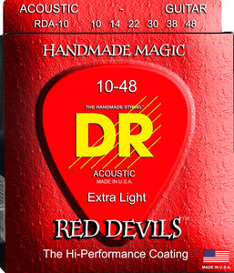 DR Red Devil Acoustic Guitar Strings 10-48 - Dynamic Music Distribution
