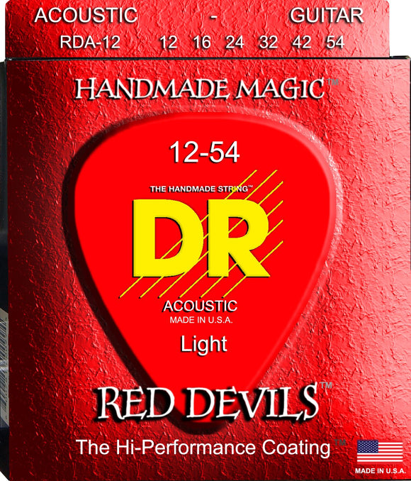 DR Red Devil Acoustic Guitar Strings 12-54 - Dynamic Music Distribution