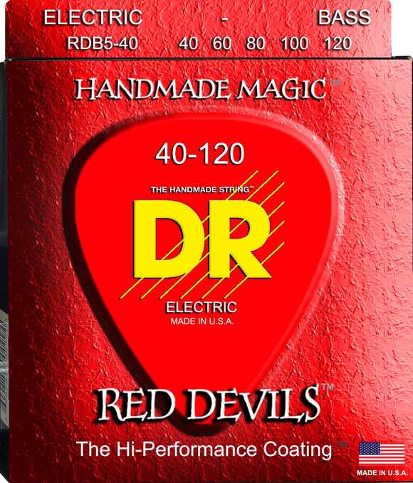DR Red Devil Bass Guitar 5Strings 40-120 - Dynamic Music Distribution