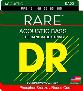 DR Rare Acoustic Guitar Bass Guitar Strings 45-105 - Dynamic Music Distribution