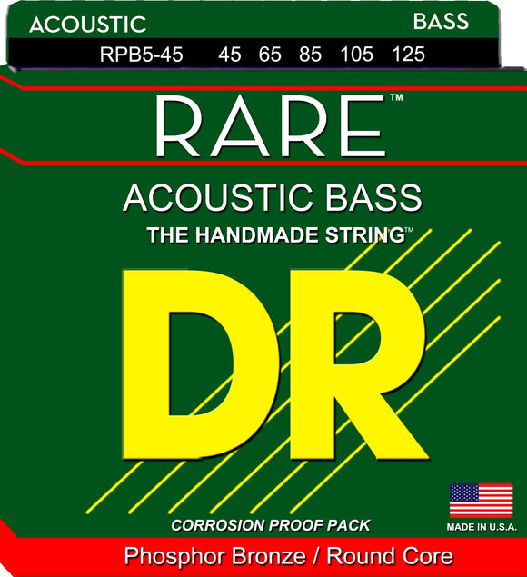 DR Rare Acoustic Guitar Bass Guitar 5Strings 45-125 - Dynamic Music Distribution