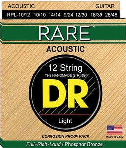 DR Rare Acoustic Guitar 12Strings 10-48 - Dynamic Music Distribution