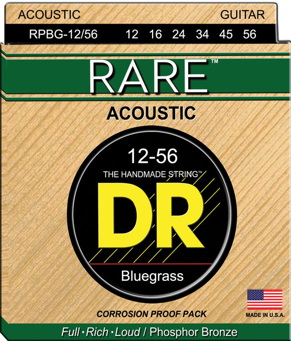 DR Rare Acoustic Guitar Strings 12-56 - Dynamic Music Distribution