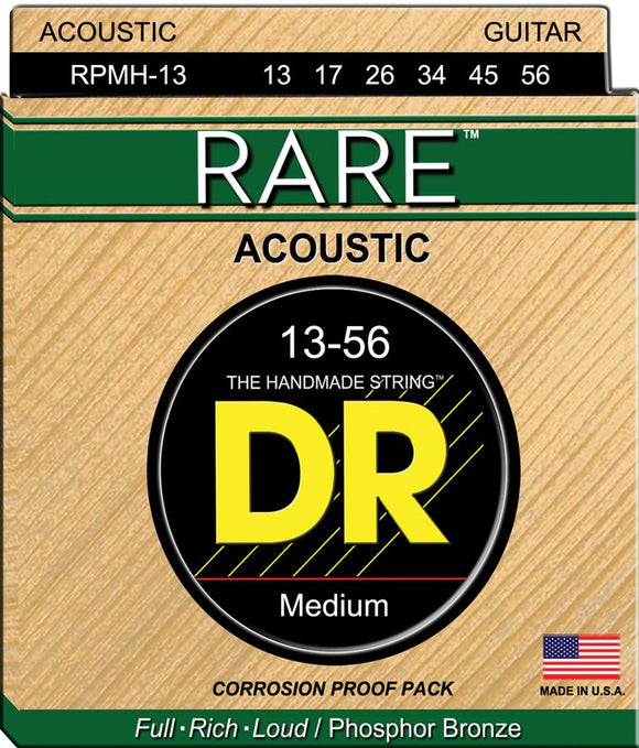 DR Rare Acoustic Guitar Strings 13-56 - Dynamic Music Distribution