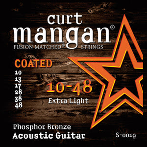 Curt Mangan 10-48 PhosPhor Bronze Coated Acoustic Guitar Strings - Guitar Gear Pro