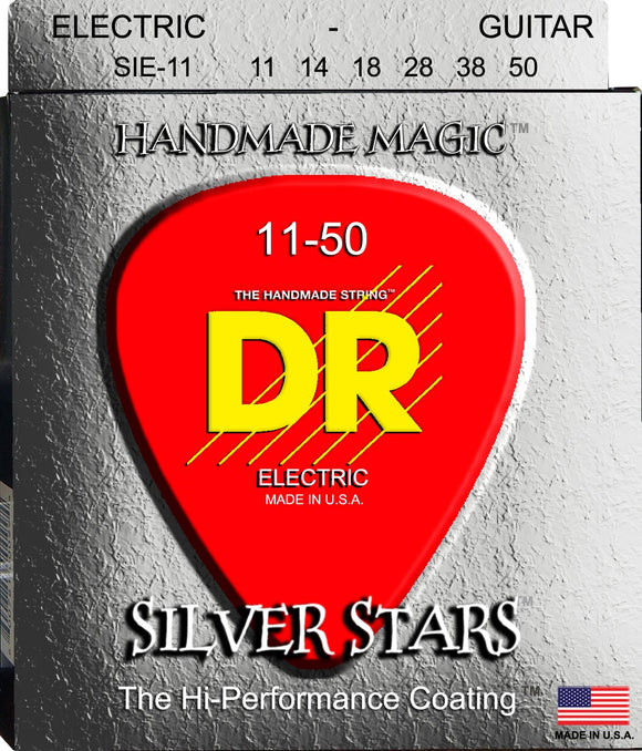 DR Silver Stars Electric Guitar Strings 11-50 - Dynamic Music Distribution