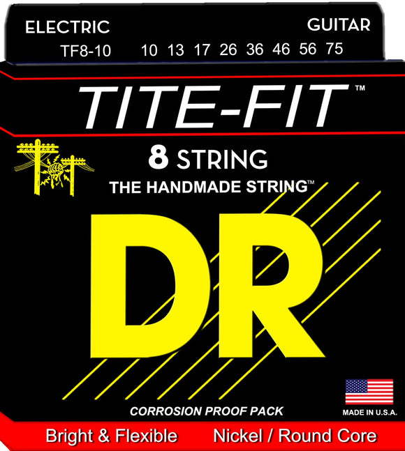 DR Tite-Fit Electric Guitar 8Strings 10-75 - Dynamic Music Distribution
