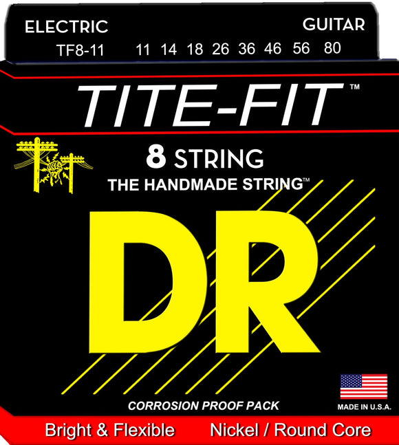 DR Tite-Fit Electric Guitar 8Strings 11-80 - Dynamic Music Distribution