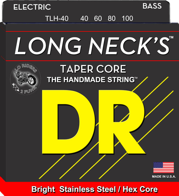 DR Extra Long Scale Bass Guitar Strings 40-100 - Dynamic Music Distribution