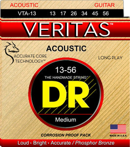 DR Veritas Acoustic Guitar Strings 13-56 - Dynamic Music Distribution