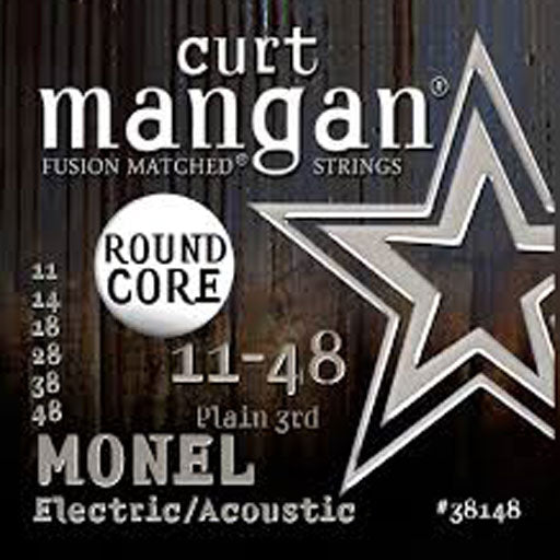 Curt Mangan 11-48 Round Core Monel Electric/Acoustic Guitar Strings - Dynamic Music Distribution
