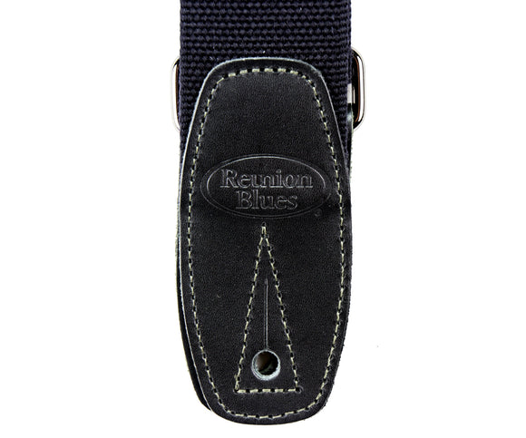 Reunion Blues Merino Wool Guitar Strap, Black - Dynamic Music Distribution