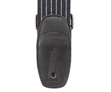 Reunion Blues Merino Wool Guitar Strap, Black Pinstripe - Dynamic Music Distribution