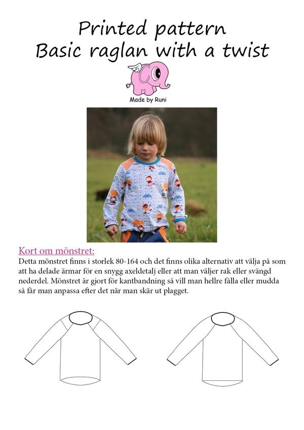Basic raglan with a twist, barn 80-164-Mønstre-MADE BY RUNI-Juels.dk