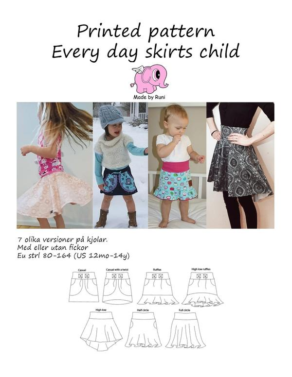 Every day skirts, barn-Mønstre-MADE BY RUNI-Juels.dk
