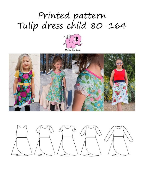 Tulip dress child 80-164-Mønstre-MADE BY RUNI-Juels.dk