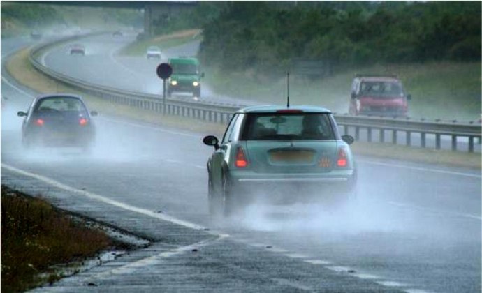 Top tips for driving in wet weather