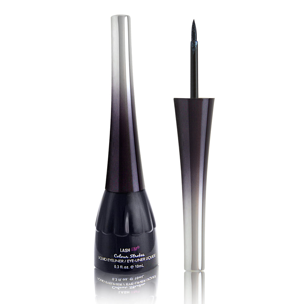 Lashem Color Strokes Liquid Eyeliner with Lash Enhancing Serum - Black Pearl