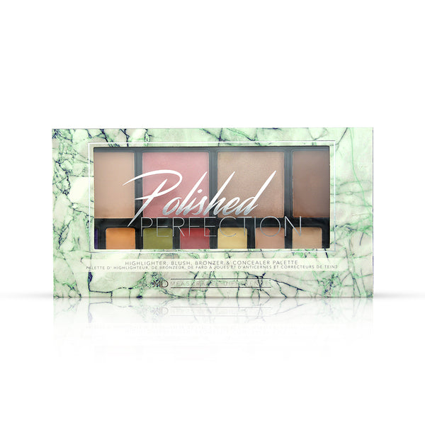 Polished Perfection Highlighter, Blush, Bronzer & Concealer Palette