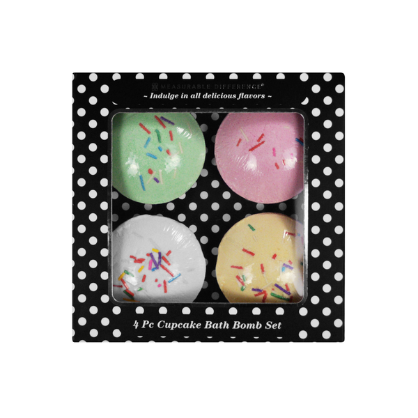 4 PC Cupcake Bath Bomb Set