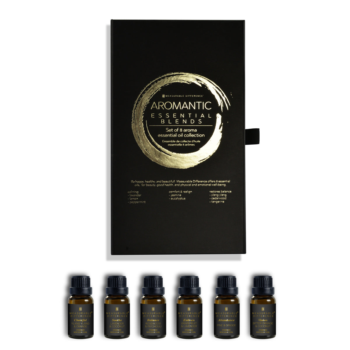 8 PC Aromantic Essential Blends Oil Set