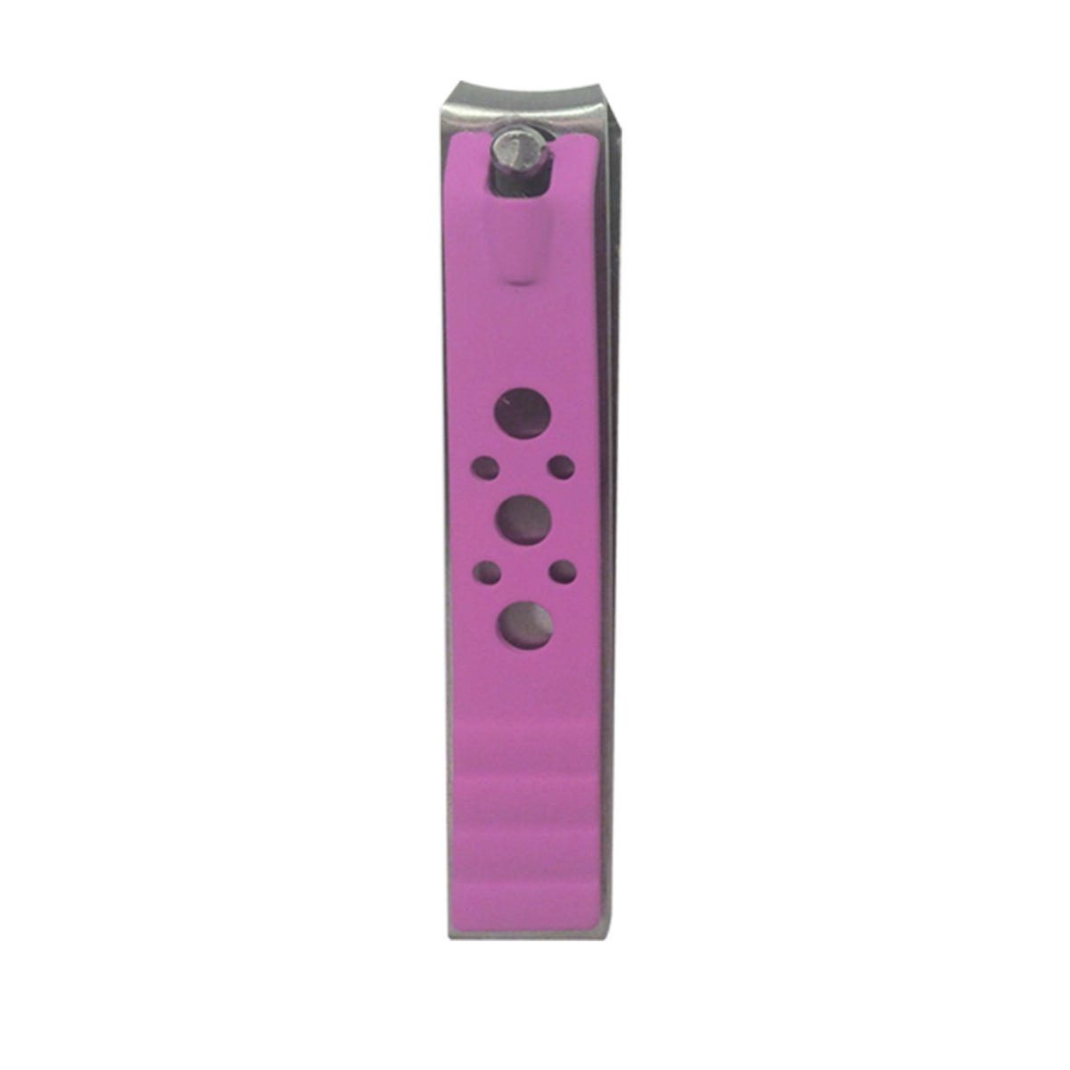 Curved Large Nail Clipper Hot Pink Happy Face