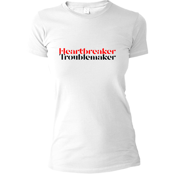Heartbreaker Troublemaker T-shirt - Women