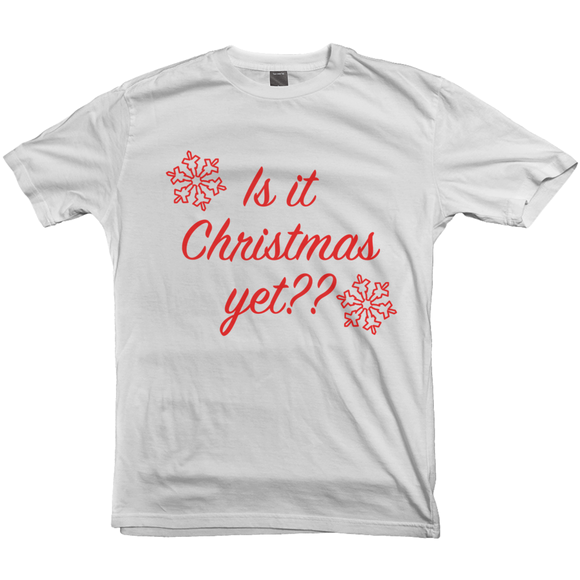 Is It Christmas Yet T-shirt - Women