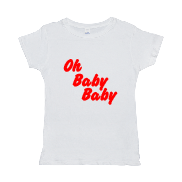 Oh Baby Baby Message T-shirt - Women