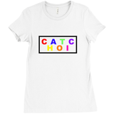 Chaotic Multicolor Boxed T-shirt - Women