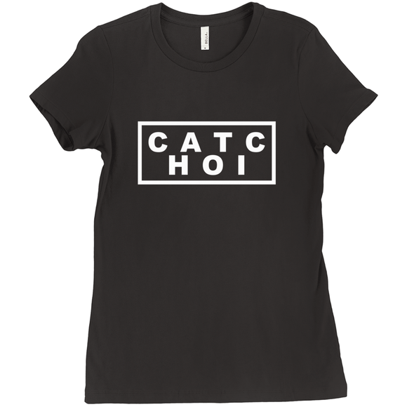 Chaotic Scattered Letters T-shirt - Women