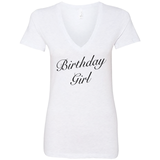 Birthday Girl Deep V-neck T-shirt - Women