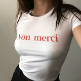 Non Merci Message T-shirt - Women