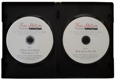 Free-Motion Mastery in a Month Deluxe Bundle - DVD Format <BR>(Video + Book + Tool Kit)<BR>BEST VALUE!
