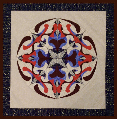 Magic Mirror Mandala Quilt (Spirals 301 online)