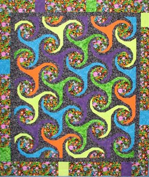 More Fun than a Barrel of Monkeys Quilt with Painless Paper Piecing