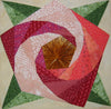 Spiral Rose Block with Painless Paper Piecing