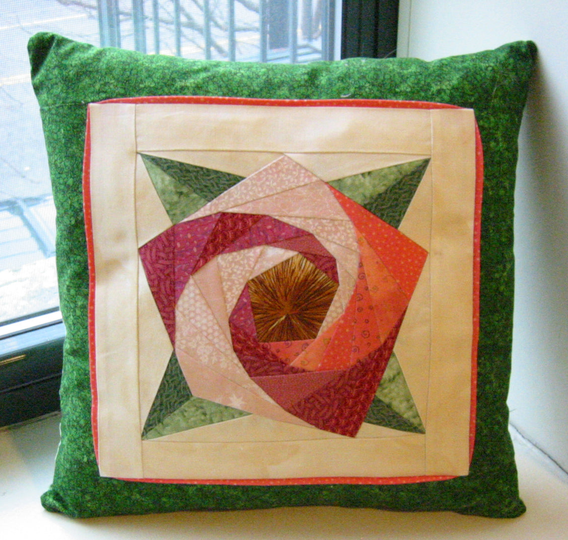 Spiral Rose Block With Painless Paper Piecing Ranae Merrill Quilt Design