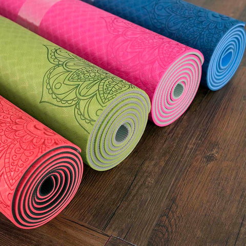 Dature TPE Yoga Mat 6mm 183*61cm*6mm - 4 Colors