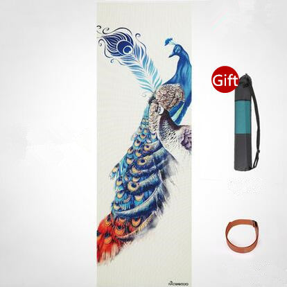 Printed Yoga Mat Non-slip 183*61cm*5mm - 7 Colors + Gift