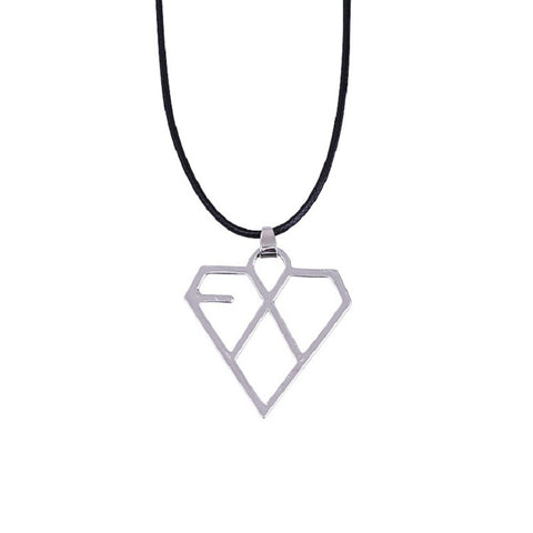 EXO Heart Shaped Necklace Pendant