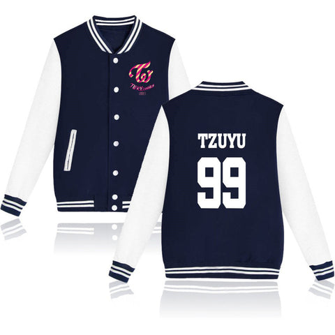 Twice Varisty Jacket - Navy - theidolshop