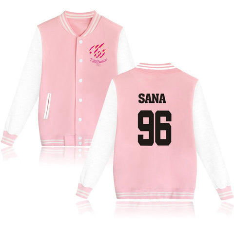 Twice Varisty Jacket - Pink - theidolshop