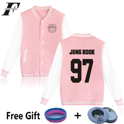 Kpop BTS Varsity Jacket - Womens - theidolshop