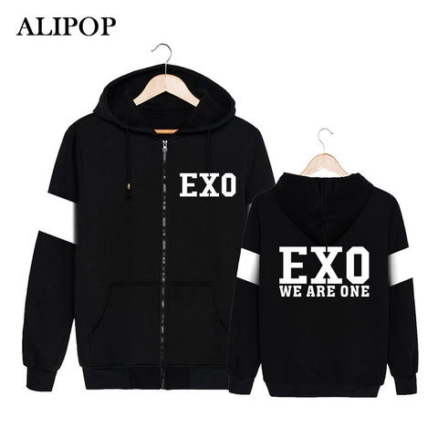 EXO Kpop We Are One Zipper Hoodie Jacket - theidolshop