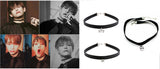 BTS Gothic Leather Choker Necklace - theidolshop